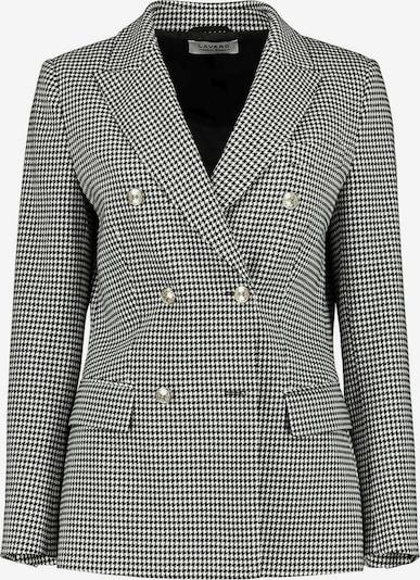 Lavard Blazer als zweireihiger Damenblazer in schwarz / weiß, Produktansicht