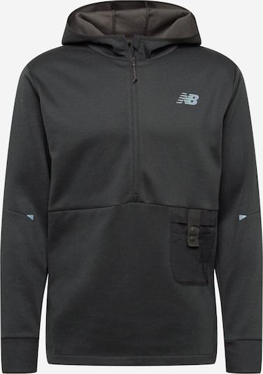 new balance Sportsweatshirt 'SPEED' in de kleur Grijs / Zwart, Productweergave