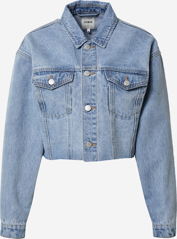 ABOUT YOU x Laura Giurcanu Between-Season Jacket 'Line' in Blue
