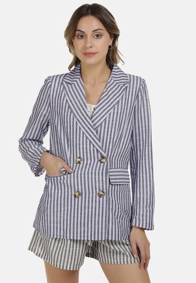 DreiMaster Vintage Blazer in royalblau / weiß, Modelansicht