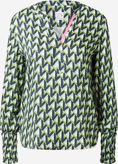 Emily Van Den Bergh Bluza u zelena / tamno zelena / bijela, Pregled proizvoda