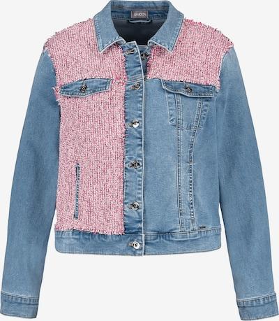 SAMOON Jacke in blue denim / pinkmeliert, Produktansicht