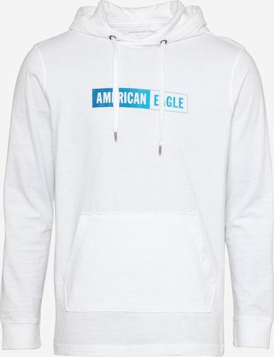 American Eagle Sweat-shirt en bleu / blanc, Vue avec produit