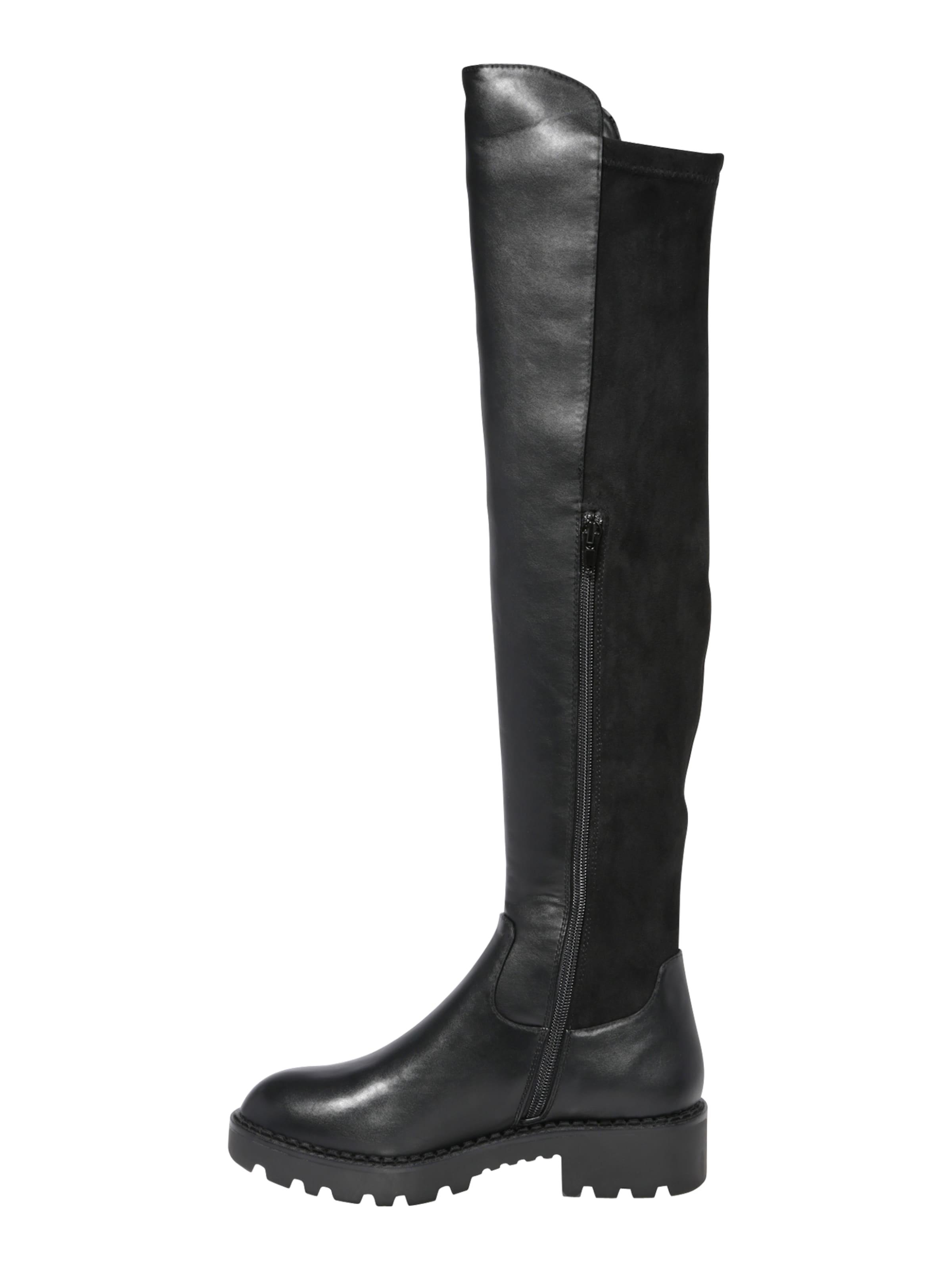 BUFFALO Overknees 'MIREYA' i svart