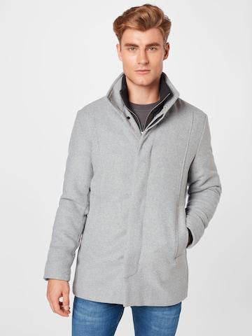Manteau mi-saison 'Dunham' JACK & JONES en gris