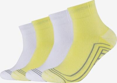 SKECHERS Kurzsocken 'Cushioned Quarter' in gelb / grau / weiß, Produktansicht