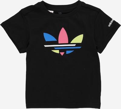 ADIDAS ORIGINALS T-Shirt in blau / limone / hellrot / schwarz / weiß, Produktansicht
