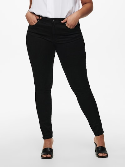 ONLY Carmakoma Jeans in black denim, Modelansicht
