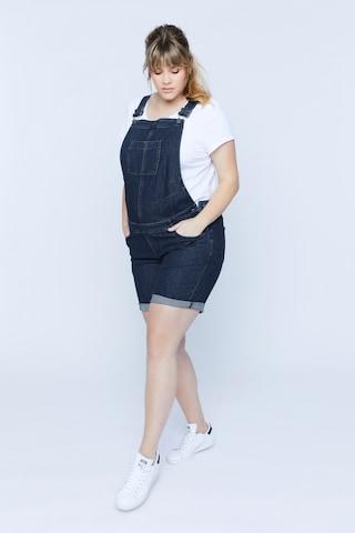 Ulla Popken Tuinbroek jeans in Blauw