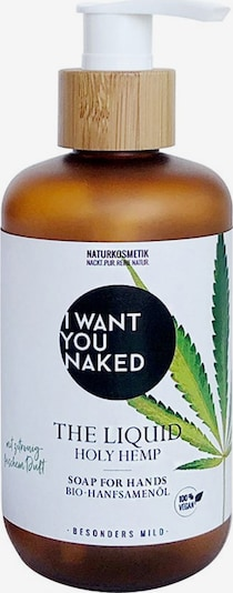 I Want You Naked Handseife in weiß, Produktansicht