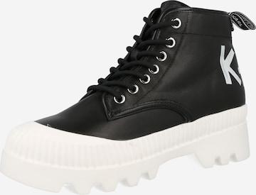 Karl Lagerfeld Lace-up bootie 'TREKKA II' in Black