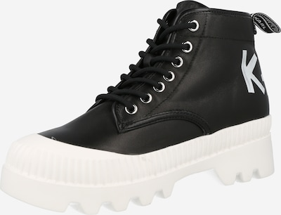 Karl Lagerfeld Bottines à lacets 'TREKKA II' en noir / blanc, Vue avec produit