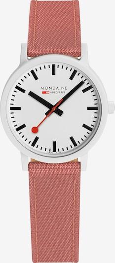 Mondaine Uhr in pink / schwarz / weiß, Produktansicht