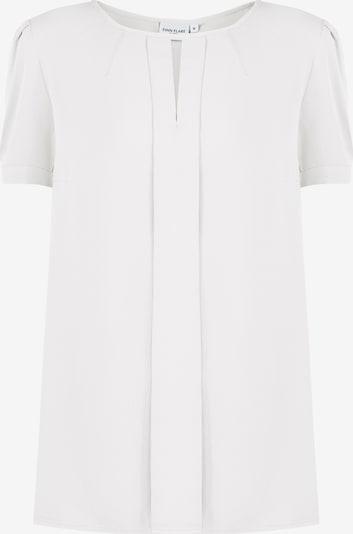 Finn Flare Bluse mit kurzen Ärmeln in weiß, Produktansicht