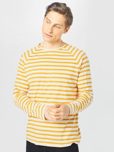 Nudie Jeans Co Paita 'Otto Breton' värissä keltainen / valkoinen: Näkymä edestä