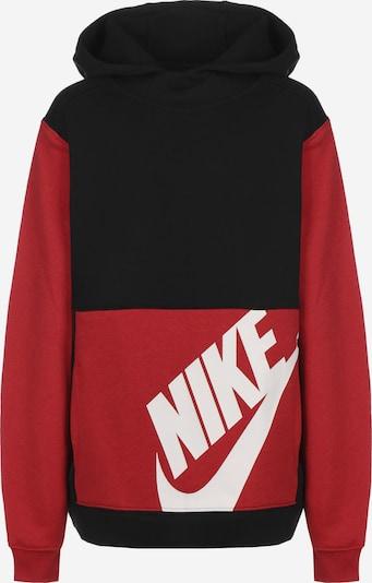 NIKE Sweatshirt 'Sportswear' in rot / schwarz / weiß, Produktansicht