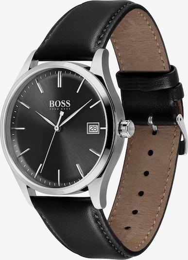 BOSS Casual Аналогов часовник 'Commisioner' в черно / сребърно, Преглед на продукта