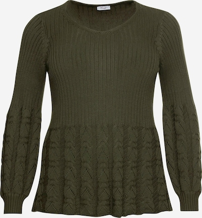 SHEEGO Pullover in oliv, Produktansicht
