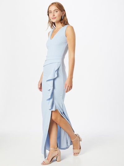 WAL G. Kleid 'FLORENCE FRILL' in hellblau, Modelansicht
