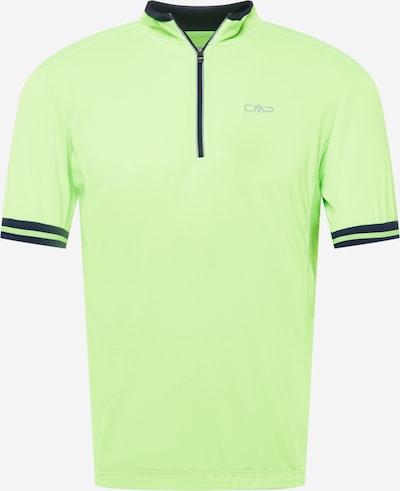 Tricou funcțional CMP pe albastru noapte / gri / verde deschis, Vizualizare produs