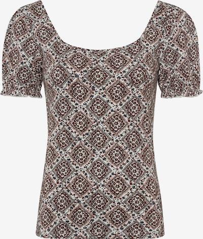 zero Shirt in dunkelgrau / rostrot / dunkelrot / naturweiß, Produktansicht