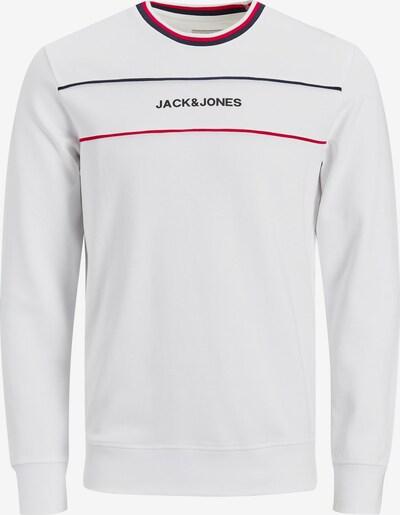 JACK & JONES Sweatshirt 'Cole' in navy / rot / weiß, Produktansicht