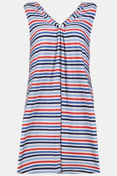 Ulla Popken Nachthemd in royalblau / rot / schwarz / weiß, Produktansicht