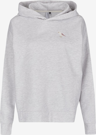 Cleptomanicx Hooded Embroidery Gull in grau, Produktansicht