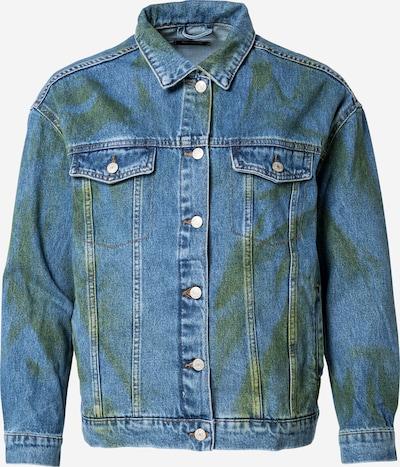 Trendyol Φθινοπωρινό και ανοιξιάτικο μπουφάν σε μπλε ντένιμ / πράσινο, Άποψη προϊόντος