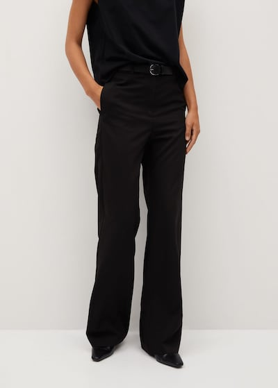 MANGO Hose 'Bori' in schwarz, Modelansicht