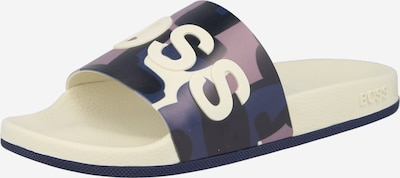 BOSS Casual Pantolette 'Bay' in creme / navy / nachtblau / helllila, Produktansicht