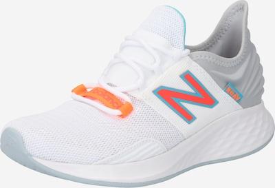 new balance Sportschuh in himmelblau / grau / orange / melone / weiß, Produktansicht
