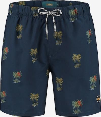 Shiwi Shorts de bain en bleu foncé / jaune foncé / vert foncé / orange foncé, Vue avec produit
