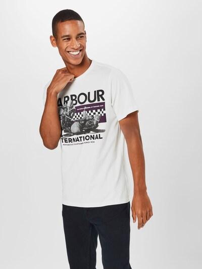 Marškinėliai 'Racer' iš Barbour International , spalva - antracito / balta: Vaizdas iš priekio