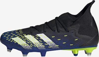 Futbolo bateliai 'Predator Freak.3' iš ADIDAS PERFORMANCE , spalva - tamsiai mėlyna / neoninė geltona / juoda / balta, Prekių apžvalga