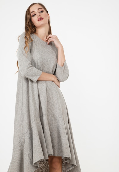 Madam-T A-Linien-Kleid 'MIA' in grau, Modelansicht
