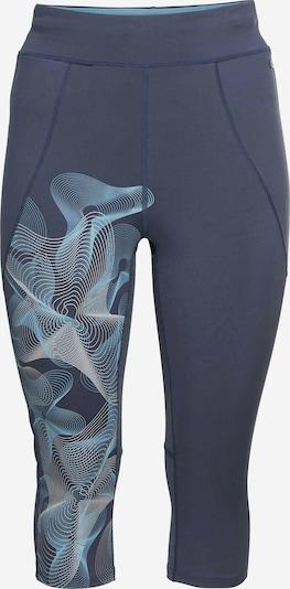 SHEEGO Pantalón deportivo en azul ahumado / azul claro / blanco, Vista del producto