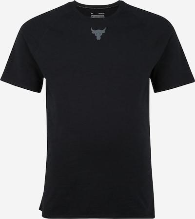 UNDER ARMOUR Functioneel shirt 'PROJECT ROCK' in de kleur Grijs / Zwart, Productweergave