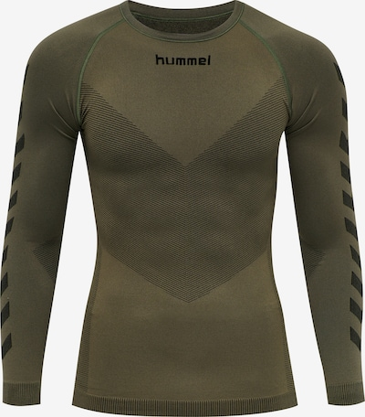 Hummel Shirt in khaki / schwarz, Produktansicht