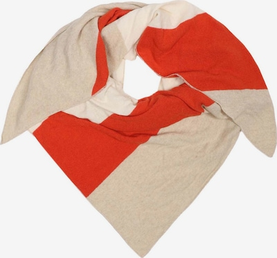 Zwillingsherz Masque en tissu en beige / orange / blanc cassé, Vue avec produit