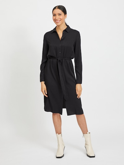 VILA Košilové šaty 'Dania' - černá, Model/ka