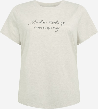 KAFFE CURVE T-shirt 'HILLA' en gris chiné / noir, Vue avec produit