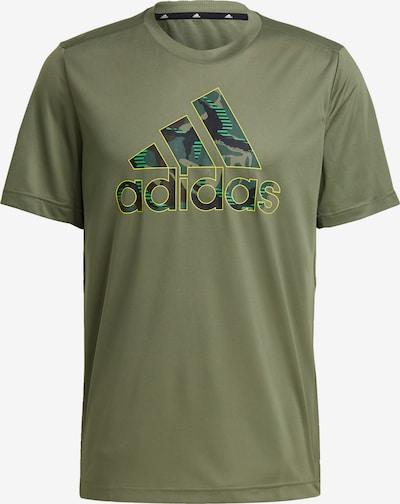 ADIDAS PERFORMANCE Sporta krekls 'Designed2Move' haki / smaragda / nefrīta / ābolu, Preces skats