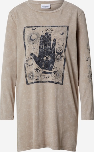 Noisy may Shirt 'Zodiac' in taupe / schwarz, Produktansicht