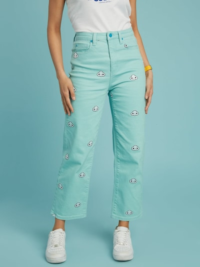 GUESS Guess JEANS SKINNY SCHLAG in mint, Modelansicht