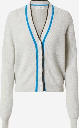 AMERICAN VINTAGE Gebreid vest 'Berabay' in de kleur Kobaltblauw / Lichtgrijs, Productweergave