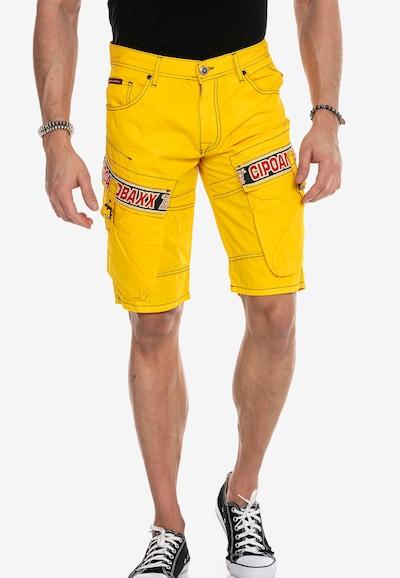 CIPO & BAXX Shorts in gelb, Modelansicht
