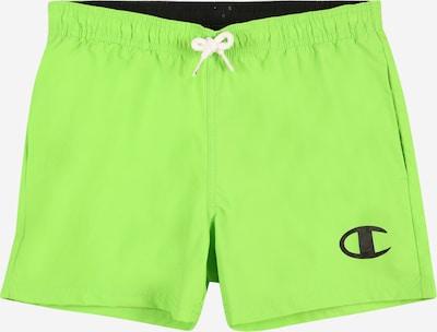 Pantaloncini da bagno Champion Authentic Athletic Apparel di colore verde chiaro / nero / bianco, Visualizzazione prodotti