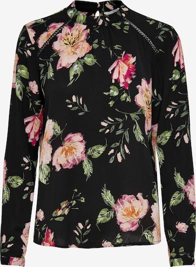 ONLY Bluse in grün / orange / rosa / schwarz, Produktansicht