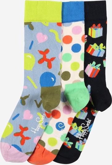 Happy Socks Chaussettes 'Happy Birthday' en mélange de couleurs, Vue avec produit